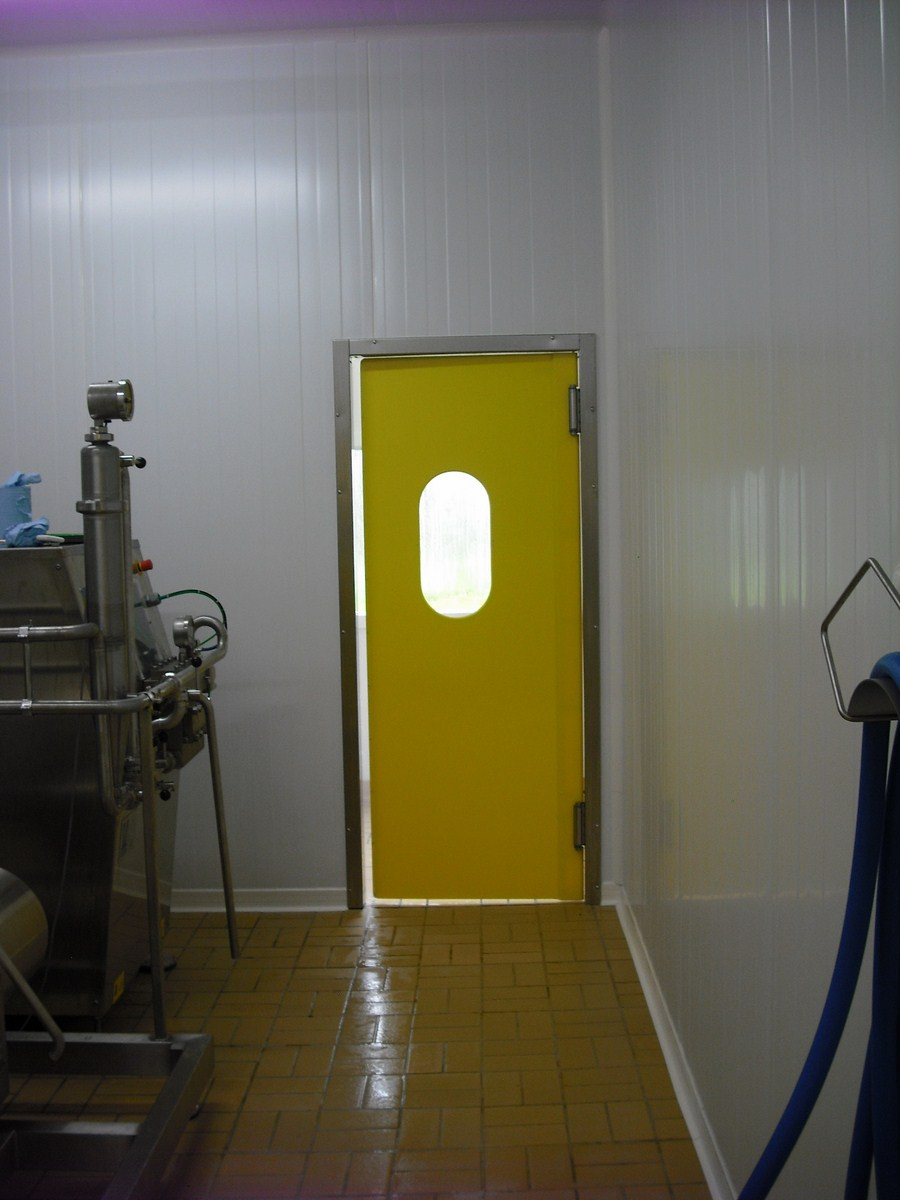 Porte va-vient inox polyethylene 1 vantail